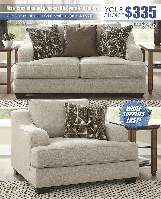 Marciana Bisque Loveseat or Oversized Chair Special