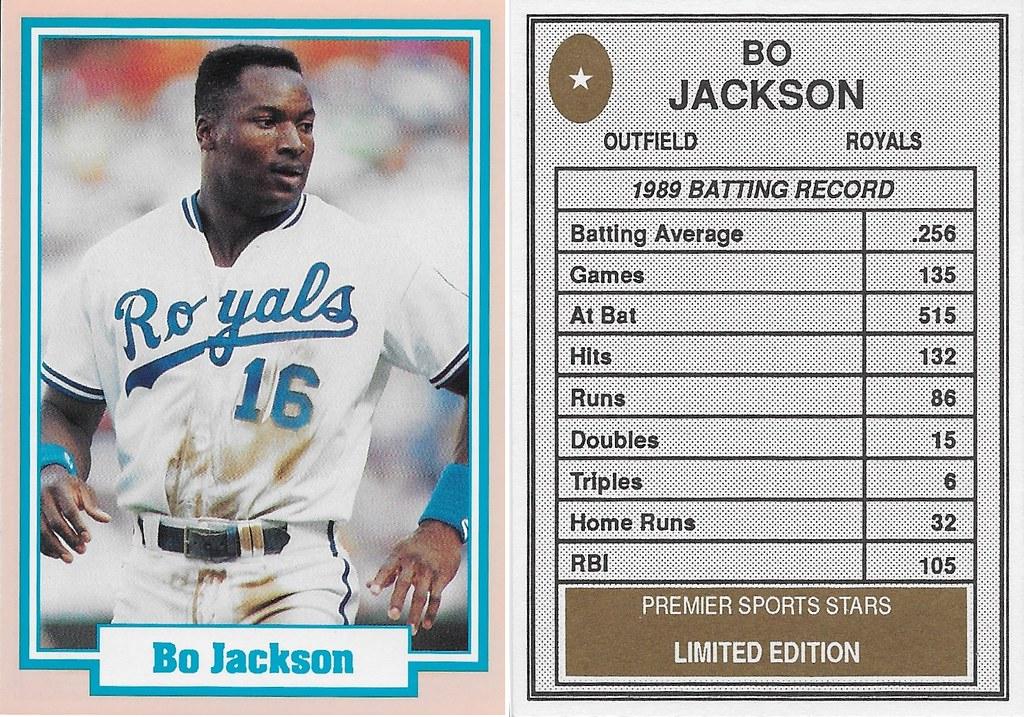 1990 Premier Sports Stars - Jackson, Bo (white jersey)