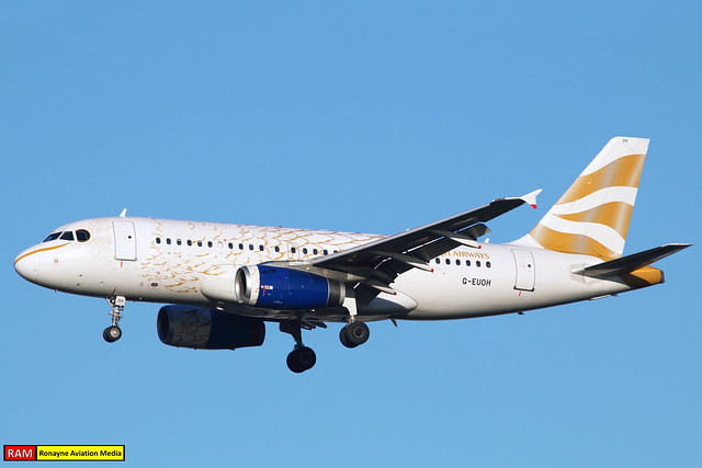 G-EUOH   Airbus A319-131   British Airways (Olympic Dove)
