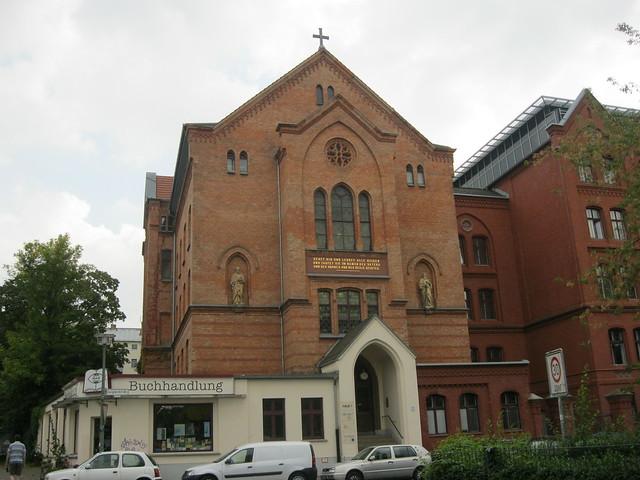 1871/73 Berlin neogotisches evangelisches Missionshaus von H. Römer Friedenstraße 2/Georgenkirchstraße 70 in 10249 Friedrichshain