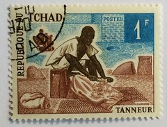 Chad postage stamp 1970 - tanner