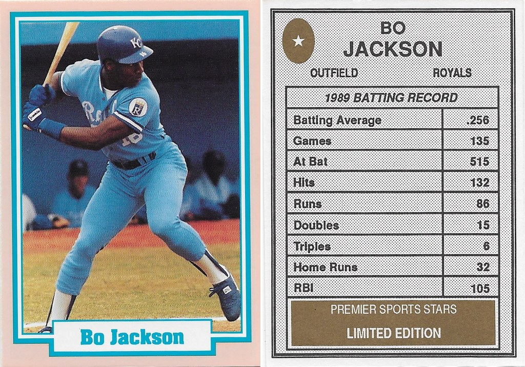 1990 Premier Sports Stars - Jackson, Bo (blue jersey)