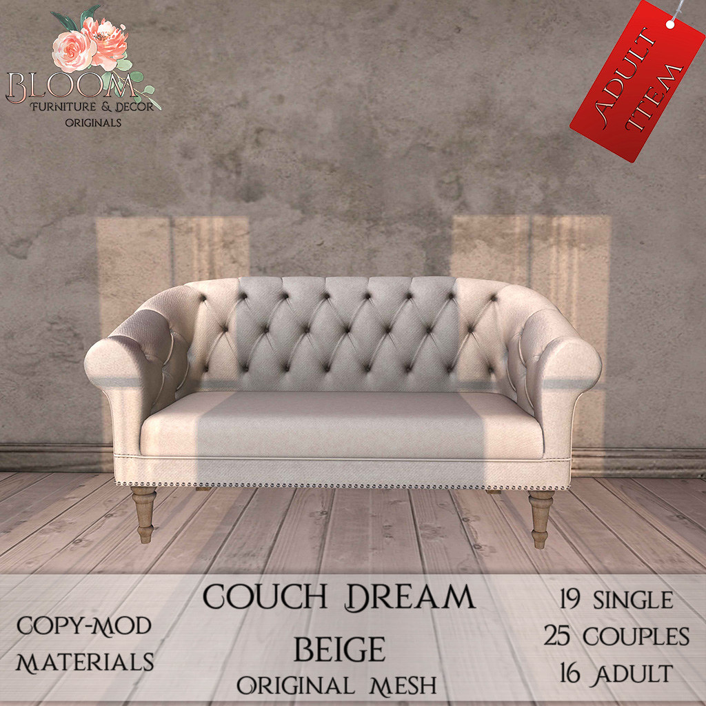 Bloom! – Couch Dream Beige (A)AD