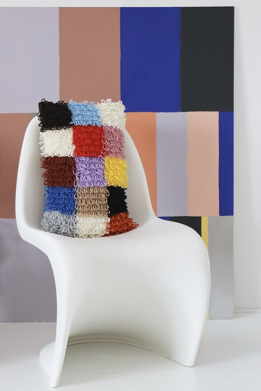 loopy patchwork pillow