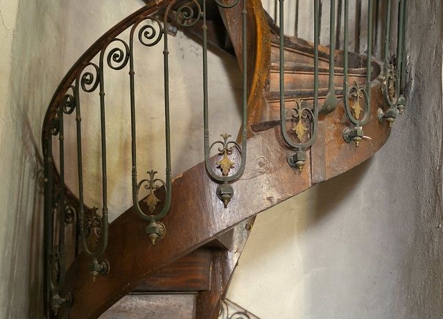 The old wooden stairs