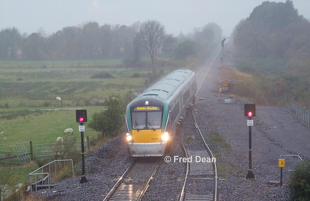 Irish Rail ICR Set 29 at Geashill.