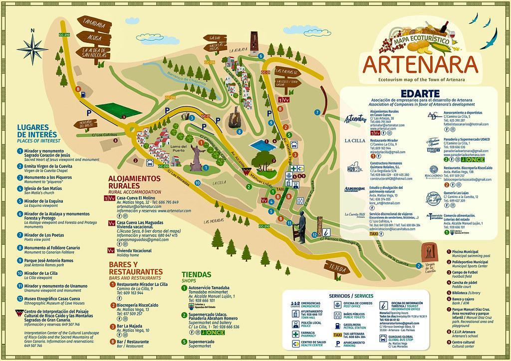 Mapa de Artenara en Gran Canaria