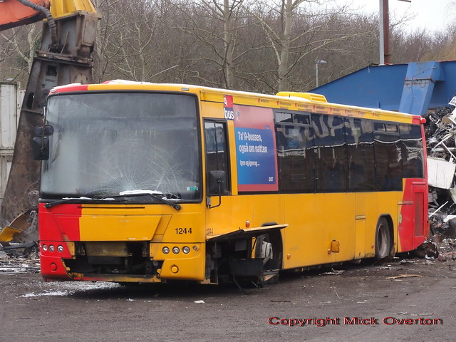 2006 Volvo B7RLE Arriva 1244 one of few to ever have route 8A stops along the roof is just minutes from being clawed to bus heaven
