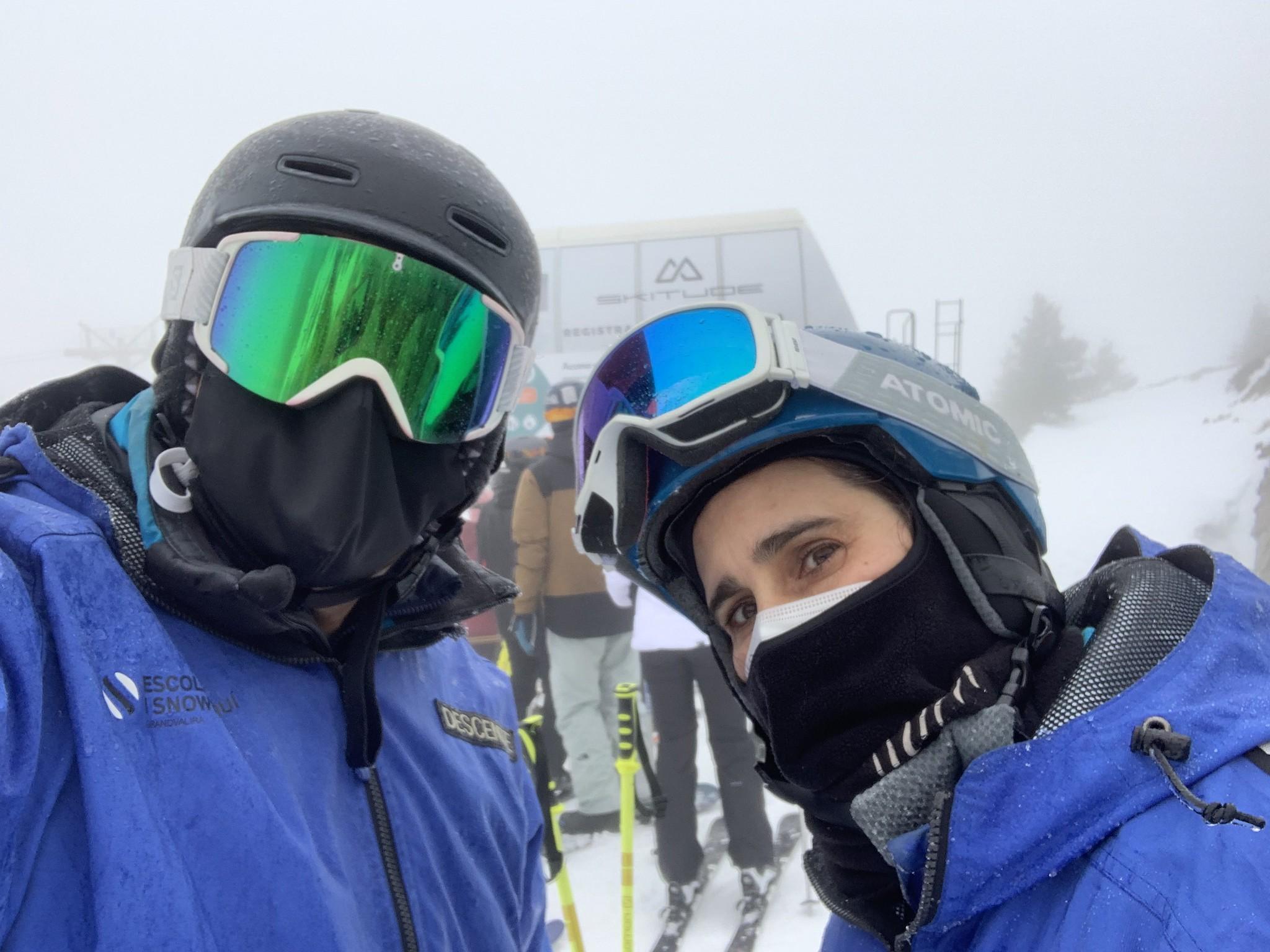 Nacho y Camille, de Hablamos de esquí.