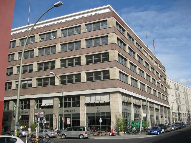 1928/30 Berlin BVG-Verwaltungsgebäude von Alfred Grenander Dircksenstraße 35/Rosa-Luxemburg-Straße 2-4 in 10179 Mitte