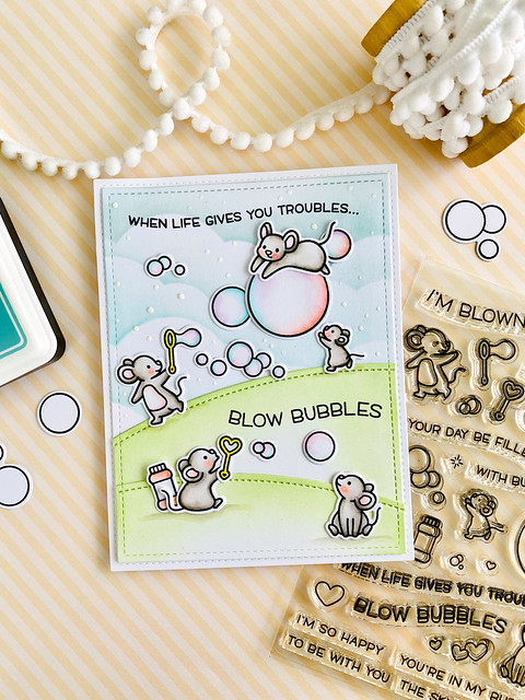 Bubbles of Joy (Lawn Fawn spring release week!)