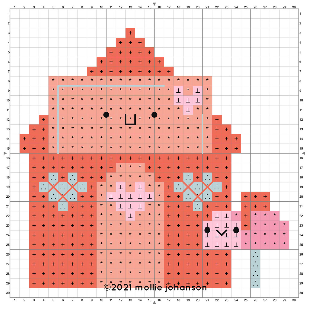 Lovely Envelope House Cross Stitch Chart