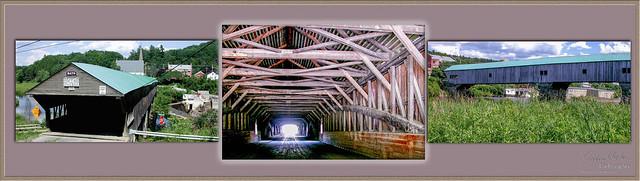 Bath Covered Bridge Triptych