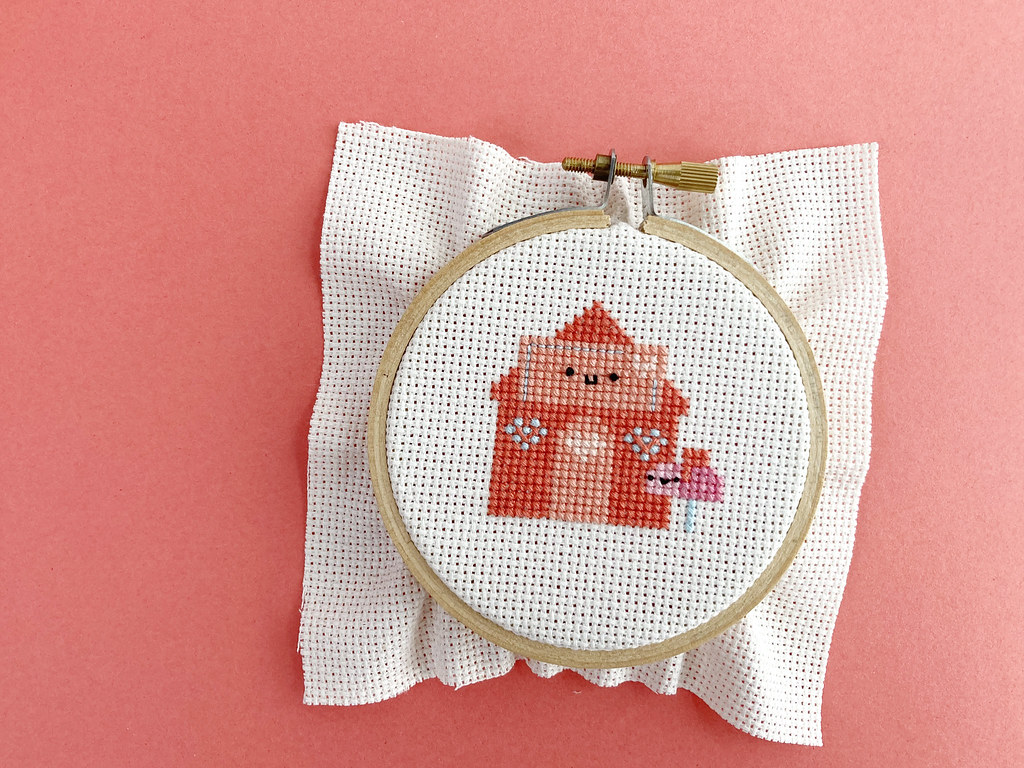Lovely Envelope House Cross Stitch