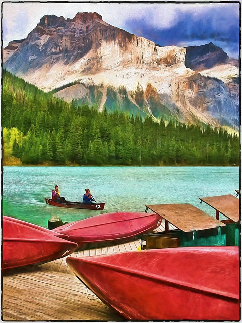 # 95. Rocky Mountain Home, Emerald Lake B.C.  One Of My Great Escapes