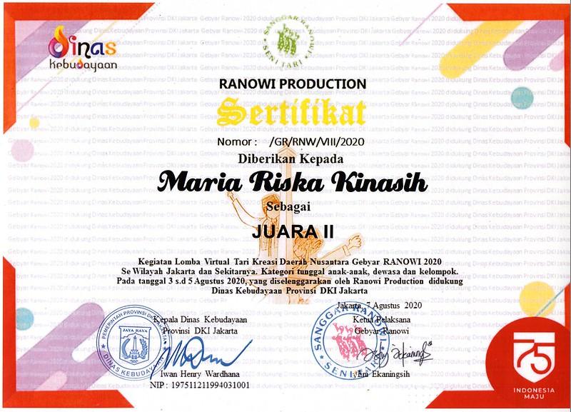 sertifikat nari