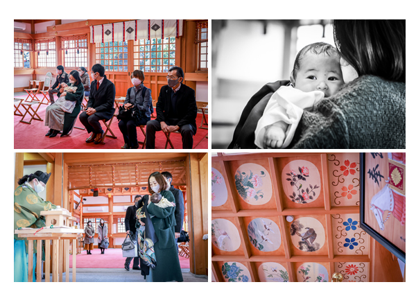 川原神社さんは御祈祷でも撮影OK 名古屋市昭和区 お宮参り