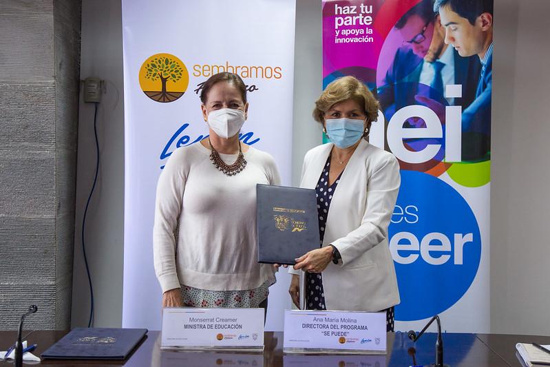 Acto De Firma De Convenio Específico De Cooperación Interinstitucional Entre El Ministerio De Educación Y La Corporación Para El Emprendimiento Y La Innovación Del Ecuador