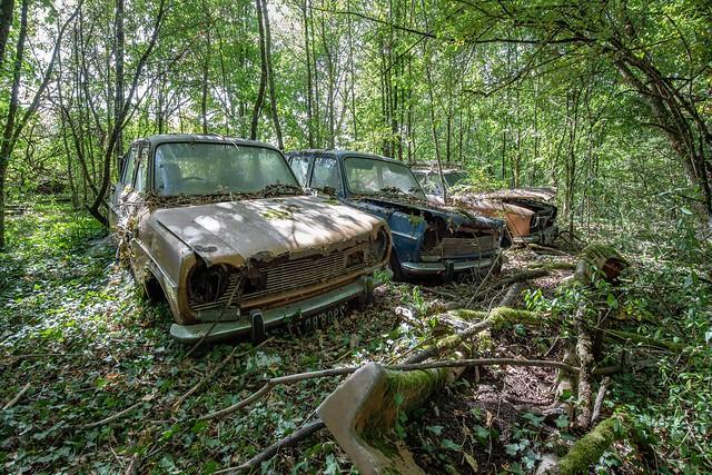 Cars abandoned