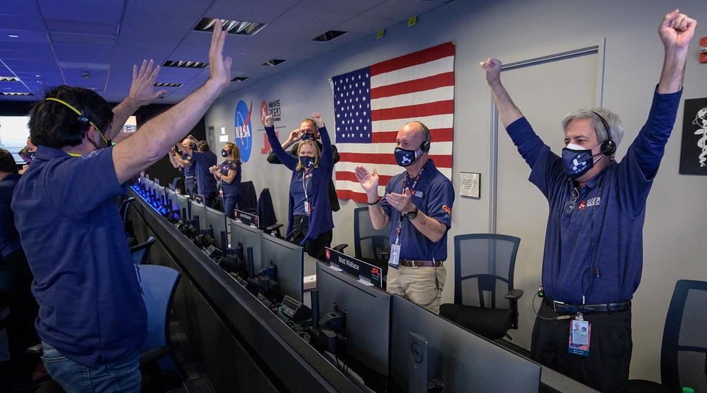 NASA Perseverance Rover Lands on Mars (NHQ202102180014)