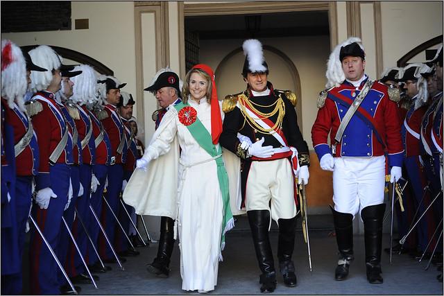 La Vezzosa Mugnaia e il Generale tra gli Ufficiali dello Stato Maggiore