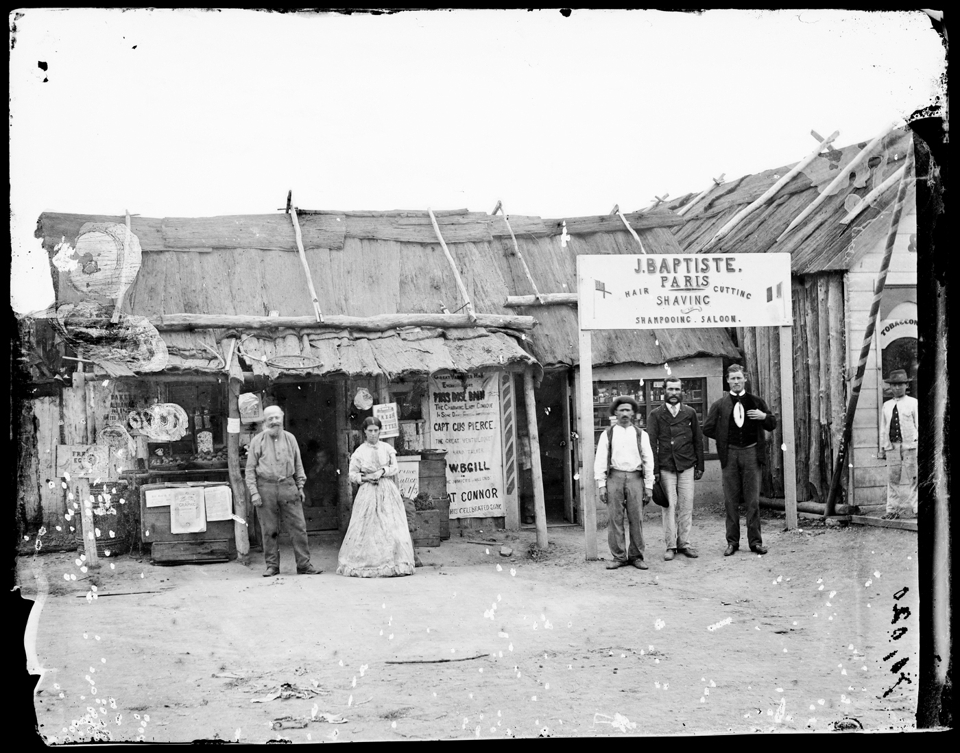 J. Baptiste, hairdressing/barber's saloon, Hill End gold fields, ca. 1872