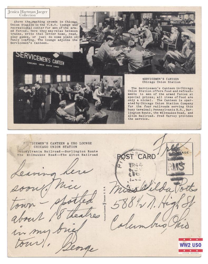 USO ChicagoUnionStation - Chicago, IL 1942