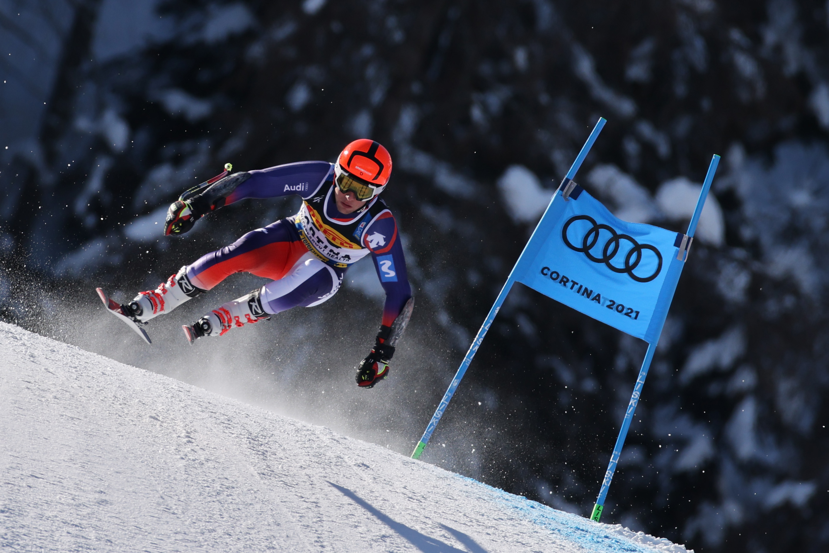 Albert Ortega en el SG de Cortina 2021 - Foto: RFEDI (Pentaphoto Marco Trovati)