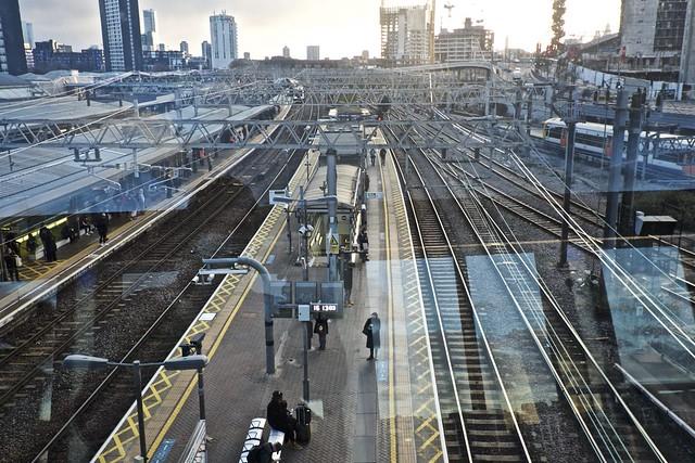 Stratford Station through Glass