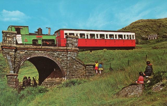 UK - Wales - Snowdon Mountain Railway near Llanberis.