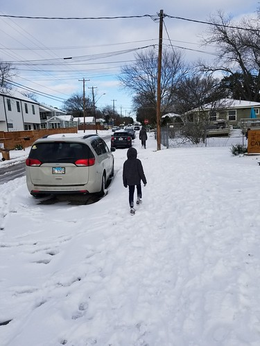 a long walk during the Texas freeze