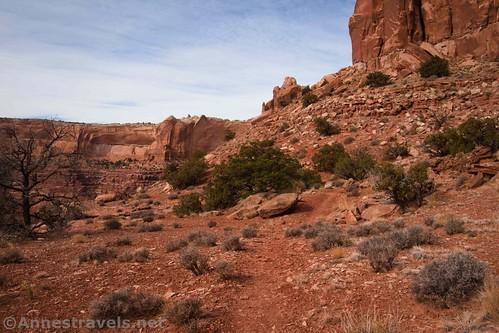 The trail below Lathrop Point, Canyonlands National Park, Utah