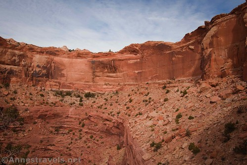 As impossible as it seems, you'll be hiking down the head of this canyon on the Lathrop Trail, Canyonlands National Park, Utah