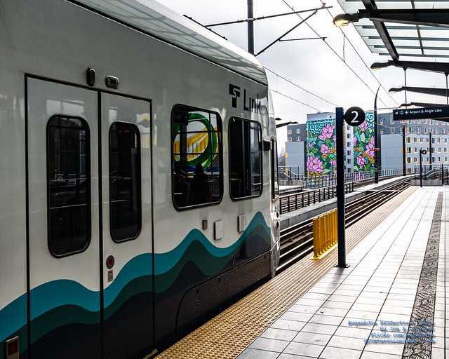 Sound Transit Link About to Leave Mount Baker Station