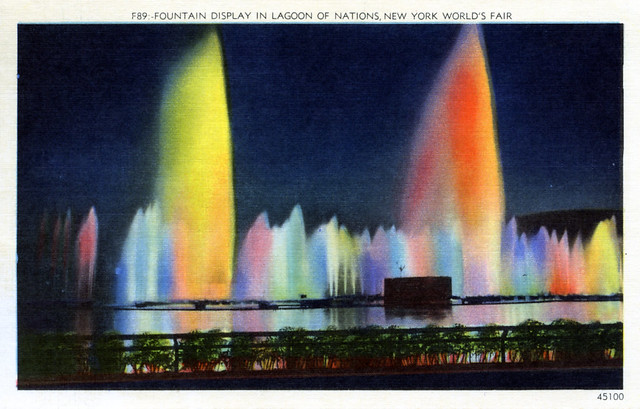 Fountain Display in the Lagoon of Nations New York World's Fair NY