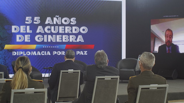 """Segundo día de la Conferencia: """"55 años del Acuerdo de Ginebra: Diplomacia para La Paz""""."""