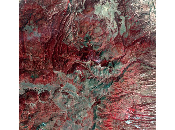 A satellite image.