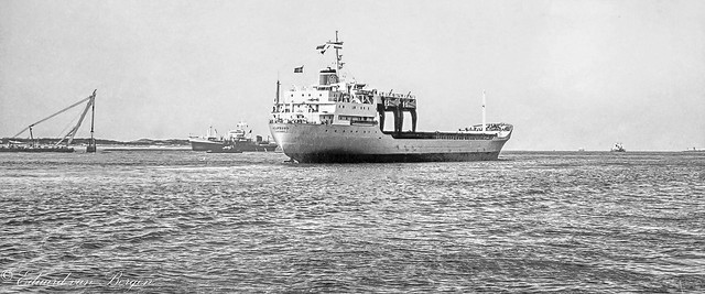 February 1968 - MV Holmsund (10/1967) general cargo freighter (timber carrier).