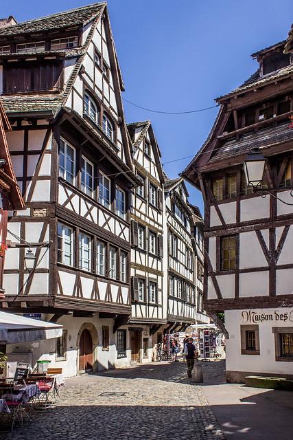 Rue du Bain-aux-Plantes, Strasbourg, Alsace, France