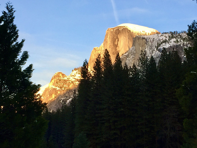 Alpenglow on Half Dome Yosemite