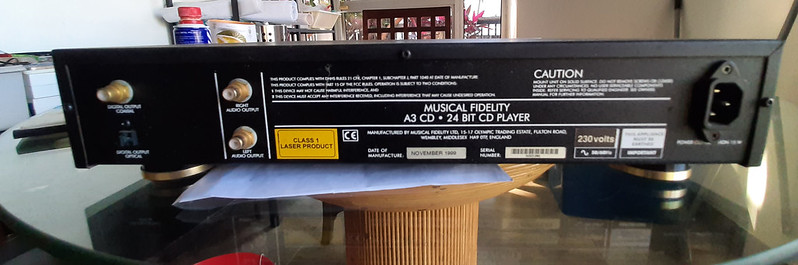 Musical Fidelity A3 CD Player (used) 50958047183_49999b38a3_c