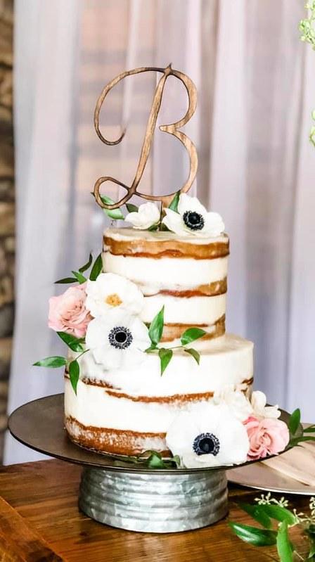 Naked Wedding Cake by Sifting Grace Bakery