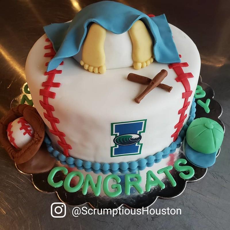 Cake by Scrumptious Houston