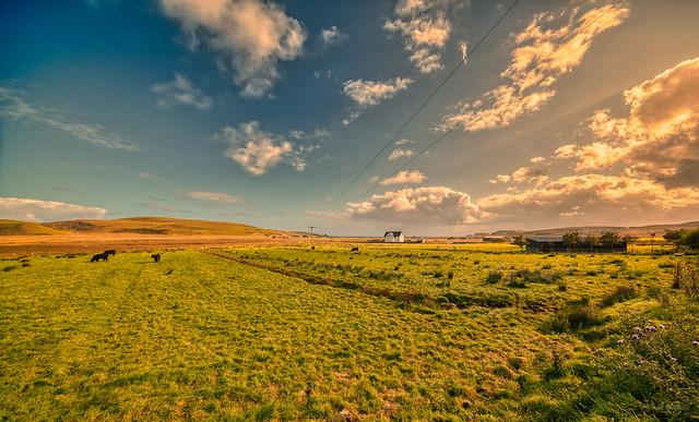 The golden skies of Skye, Scotland.