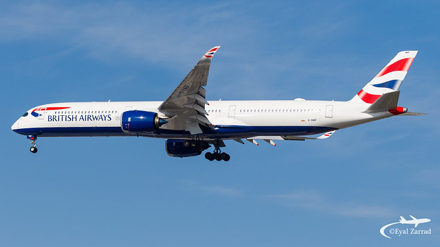 TLV - British Airways Airbus A350-1000 G-XWBF