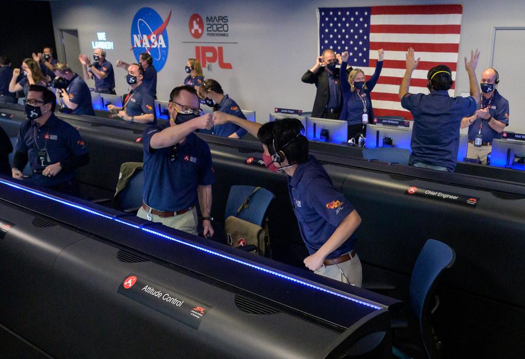 NASA Perseverance Rover Lands on Mars (NHQ202102180068)