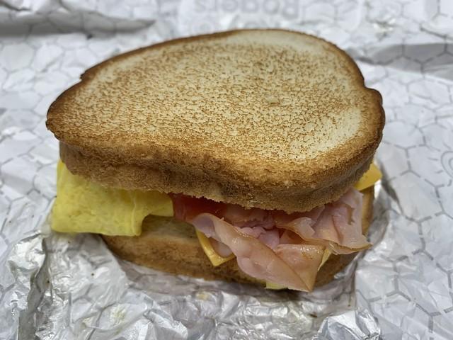 2021 50/365 2/19/2021 FRIDAY - Roy Rogers Sourdough Ham Egg & Cheese Sandwich