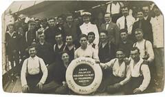 Polacos en barco hacia Sudamérica