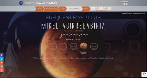 Reservando billete para Marte,...