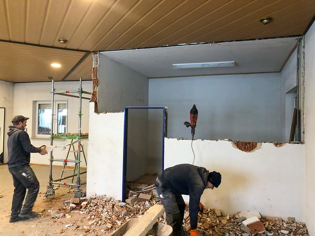 17.02.21 Renovierung und Vergrößerung des Fitnessraumes im Sportheim